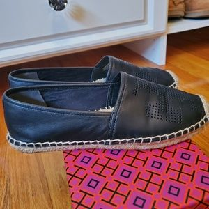 Tory Burch Shoes - Tory Burch Perforated logo espadrilles